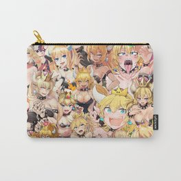 Bowsette Manga Anime Girls Collage in Colour Carry-All Pouch