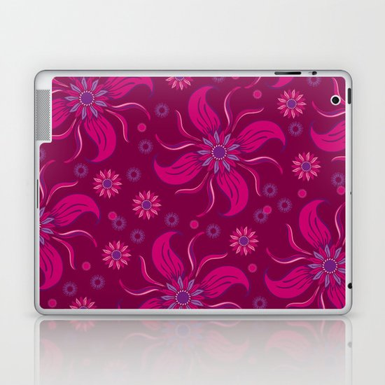 Floral Obscura Wine Laptop & iPad Skin