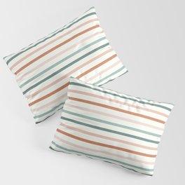 sunset stripes in terra cotta and jade Pillow Sham