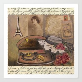 gentle lady's hat Art Print