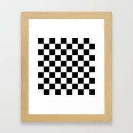 Black & White Checker Checkerboard Checkers Framed Art Print