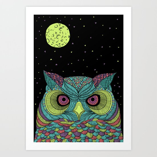The Mystique Owl Art Print