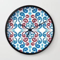 Chinoiserie Damask Wall Clock