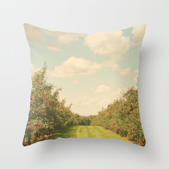 Allée de Pommes Throw Pillow