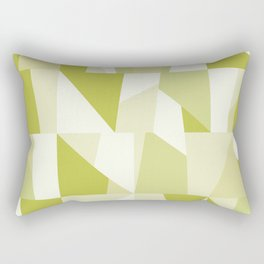 Geometric Green Pattern Rectangular Pillow