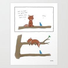 Upstairs  Art Print
