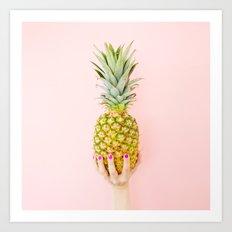 Pink Pineapple Art Print