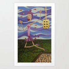 Floating Dancer Art Print