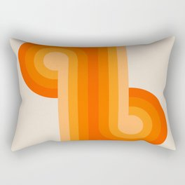 Creamsicle Knots Rectangular Pillow