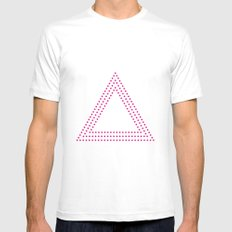 PINK DOT MEDIUM White Mens Fitted Tee