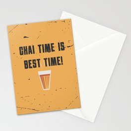 Funny Chai Tea Time Quote Stationery Cards