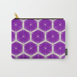 large honey comb in purple Carry-All Pouch