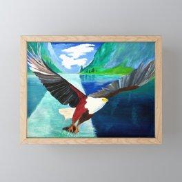 Eagle at Mystic Lake Framed Mini Art Print