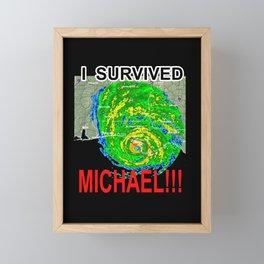 I SURVIVED HURRICANE MICHAEL Framed Mini Art Print