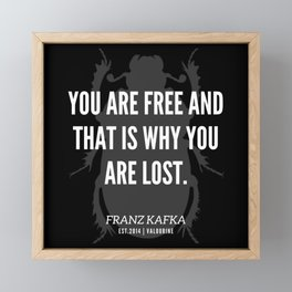 49 |  Franz Kafka Quotes | 190517 Framed Mini Art Print