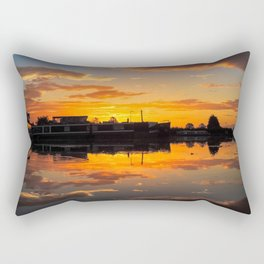 Sunrise arcross the water Rectangular Pillow