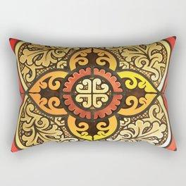 An antique cross Rectangular Pillow