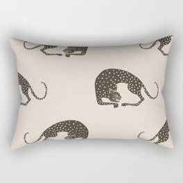 Blockprint Cheetah Rectangular Pillow