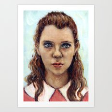 Suzy - Moonrise Kingdom - Kara Hayward Art Print
