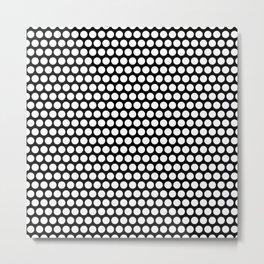Polka / Dots - Black /White - Large Metal Print