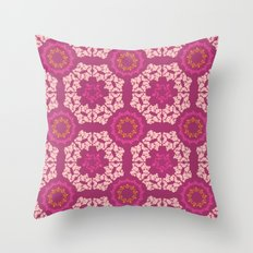 Moroccan Textured Tile Throw Pillow