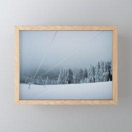 Blue Winter Framed Mini Art Print