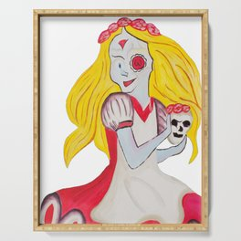Demented Alice Image Serving Tray