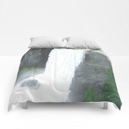 Vernal Fall Yosemite Comforters