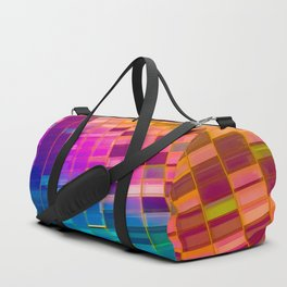 NYC architecture gradient 559 Duffle Bag