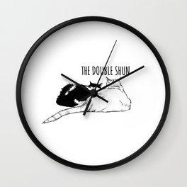 The Double Shun Wall Clock