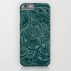 Teal Paisley Slim Case iPhone 6s