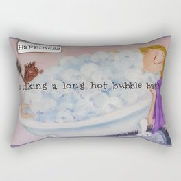 Happiness is taking a long hot bubble bath. Rectangular Pillow