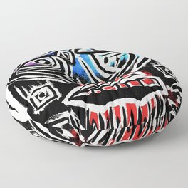 """""""Excuse me?"""" Abstract Face Painting Floor Pillow"""