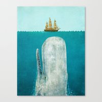 jaws Canvas Prints featuring The Whale  by Terry Fan
