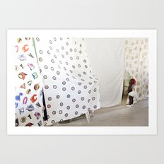 Peek-a-boo baby Art Print