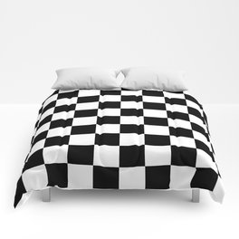 Black White Checker Comforters