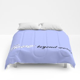 Love Beyond Words (Light Blue) Comforters