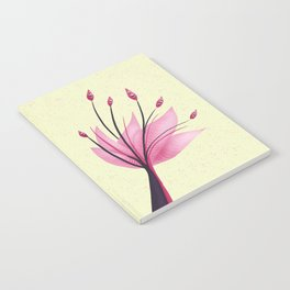 Pink Abstract Water Lily Flower Notebook