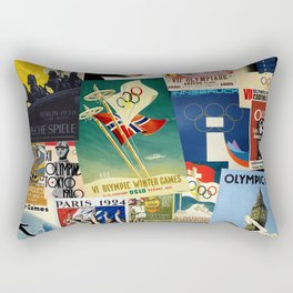 Olympics Montage Rectangular Pillow