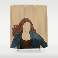 amy pond Shower Curtains featuring The Girl Who Waited, Amy Pond by Diddly's Shop