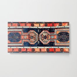 Davagin  Antique Daghestan East Caucasus Kilim Print Metal Print