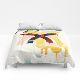 Abstract geometric art Comforters