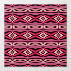 Pink Black and White Diamond Abstract Canvas Print