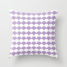 Lavender Fan Shell Pattern Throw Pillow