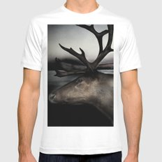 Tom Feiler Caribou MEDIUM Mens Fitted Tee White