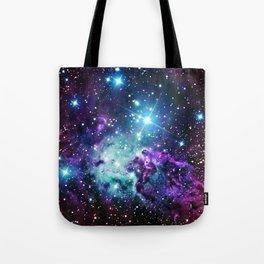 Fox Fur Nebula : Purple Teal Galaxy Tote Bag