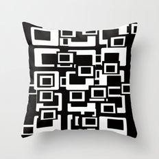 Retro Black and White Throw Pillow