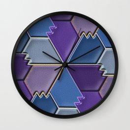 Blues & Purples Wall Clock
