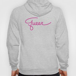 Badge of Honor: Queer (Large Text) Hoody