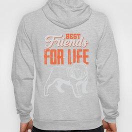 English Bulldog Best Friends For Life Hoody